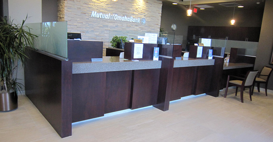 Commercial Cabinetry in the financial business sector in Tucson